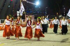 Deelnemers in de viering van Chinees Maannieuwjaar Royalty-vrije Stock Fotografie