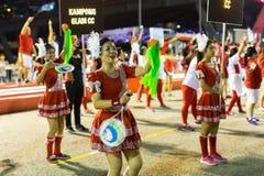 Deelnemers in de viering van Chinees Maannieuwjaar Royalty-vrije Stock Foto's