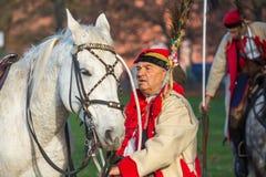 Deelnemers die Nationale Onafhankelijkheidsdag vieren een Republiek Polen - is een officiële feestdag Royalty-vrije Stock Foto