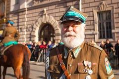 Deelnemers die Nationale Onafhankelijkheidsdag vieren een Republiek Polen - is een officiële feestdag, Royalty-vrije Stock Fotografie