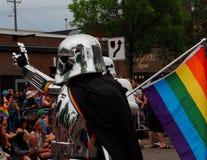 Deelnemers in Edmonton Pride Parade Royalty-vrije Stock Foto's