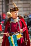 Deelnemers jaarlijks van Poolse nationaal en officiële feestdag de 3 de Grondwetsdag van Mei Stock Fotografie