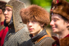 Deelnemers jaarlijks van Poolse nationaal en officiële feestdag de 3 de Grondwetsdag van Mei Royalty-vrije Stock Afbeeldingen