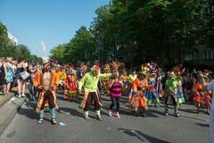 Deelnemers in Karneval der Kulturen Royalty-vrije Stock Afbeeldingen