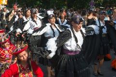 Deelnemers in Karneval der Kulturen Royalty-vrije Stock Foto's