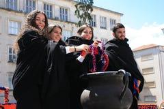 Deelnemers tijdens Traditionele Viering Stock Fotografie