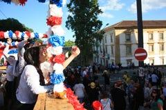 Deelnemers tijdens Traditionele Viering royalty-vrije stock foto