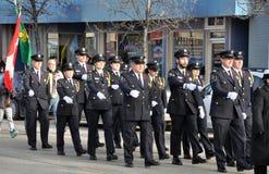 Deelnemers van de parade op de straat Royalty-vrije Stock Afbeeldingen
