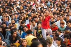 Deelnemers van Hoofddagceremonie in bekwame Khong Khuen Stock Foto's