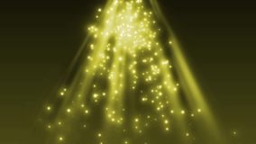 Deeltjes en het fonkelen zonnig licht royalty-vrije illustratie