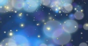 Deeltjes - het Donkerblauwe Van een lus voorzien stock footage