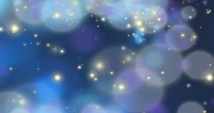 Deeltjes - het Donkerblauwe Van een lus voorzien 7 snelheid royalty-vrije illustratie