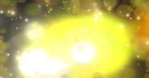 Deeltjes - het Gouden Van een lus voorzien stock illustratie