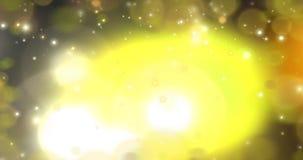 Deeltjes - het Gouden Van een lus voorzien 7 snelheid stock videobeelden