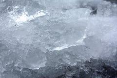 Deeltjes van ijs Stock Afbeeldingen