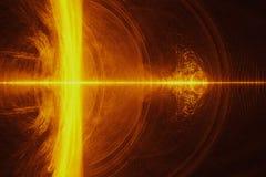 Deeltjesstroom of stroom van lichte, abstracte achtergrond royalty-vrije stock foto