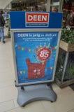 Deen Supermarket Billboard 85 Jahre Feier-bei Diemen die Niederlande lizenzfreies stockfoto
