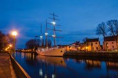 Deenrivier in Klaipeda (Litouwen) Stock Foto's