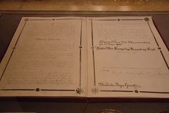Deense geschreven grondwet Stock Afbeeldingen