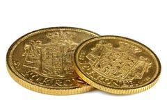 Deense gouden muntstukken royalty-vrije stock afbeeldingen