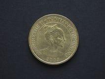 20 Deense Kroon & x28; DKK& x29; muntstuk Royalty-vrije Stock Afbeeldingen