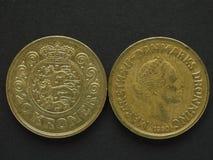 20 Deense Kroon & x28; DKK& x29; muntstuk Stock Afbeeldingen