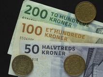 Deense Kroon & x28; DKK& x29; nota's, munt van Denemarken & x28; DK& x29; Stock Foto