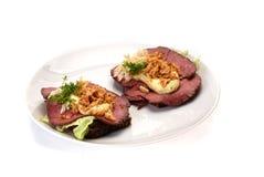 Deense open sandwiches Royalty-vrije Stock Afbeeldingen
