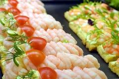 Deense sandwiches Royalty-vrije Stock Fotografie