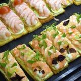 Deense sandwiches Stock Foto