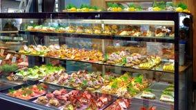 Deense Smorrerbrod-Sandwich Stock Foto's