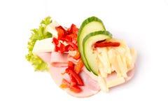 Deense specialiteiten en nationale schotels, de open sandwich van uitstekende kwaliteit stock afbeeldingen