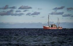 Deense vissersboot royalty-vrije stock afbeeldingen