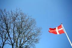 Deense vlag Royalty-vrije Stock Foto's
