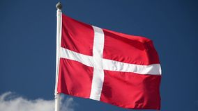 Deense Vlag stock footage