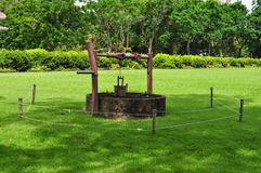 The deep ancient well in Thailand Royalty Free Stock Image