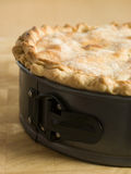 Deep Apple Pie in a Baking Tin Stock Photography