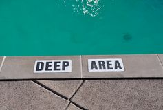 Deep area sign Royalty Free Stock Images