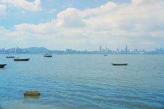 Deep Bay,  Shenzhen Bay, view at hk Royalty Free Stock Image