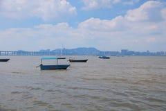 Deep Bay,  Shenzhen Bay, view at hk Royalty Free Stock Photography