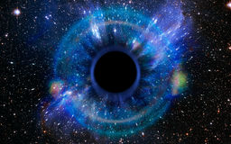 Deep Black Hole, Like an Eye in the Sky stock image