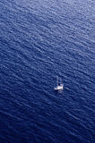 Deep Black sea. Traveling yacht in the deep water of Black sea Stock Photos