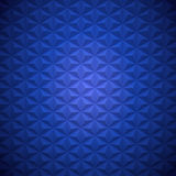 Deep Blue Abstract Hexagon shaped Triangle Pyramids Square Background Stock Photos