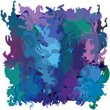 Deep blue abstract jungle Royalty Free Stock Photos