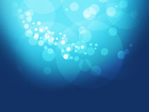 Deep blue background with baubles Royalty Free Stock Photo