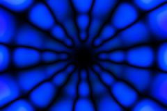 Multicolored radial circle dark pattern. Deep blue, blue and black circle radial pattern royalty free stock photography