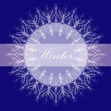 Deep blue card Royalty Free Stock Image