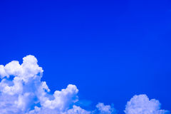 Deep blue cloud Stock Photography