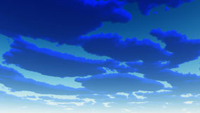 Deep Blue Clouds Royalty Free Stock Photography
