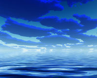 Deep Blue Clouds water Stock Image